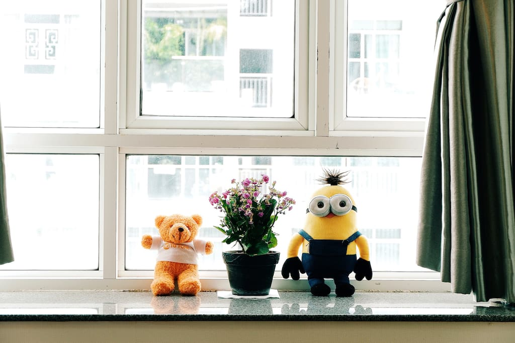 Minion and Teddy are so glad to know you are staying here~