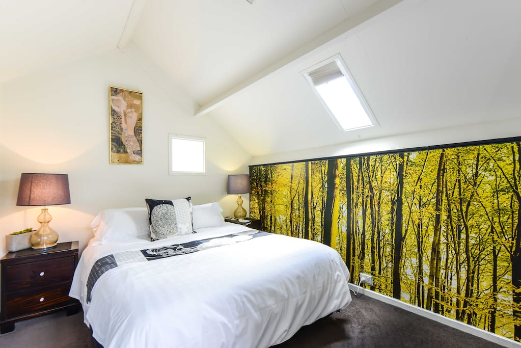 Bedroom 1, queen bed and fully air conditioned