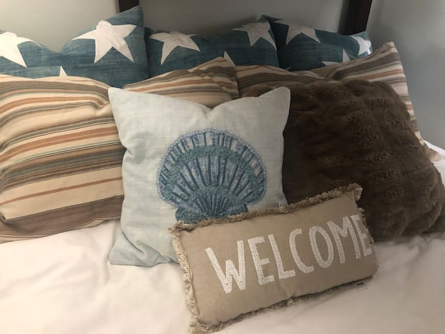 Every bed has comfy welcoming pillows