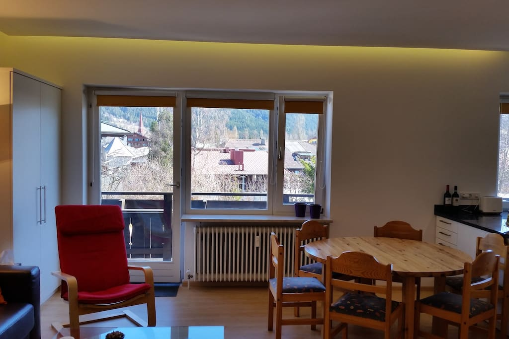 Dining area, access to east balcony