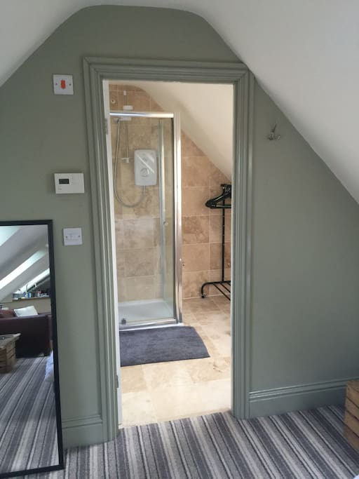 Entry into shower room