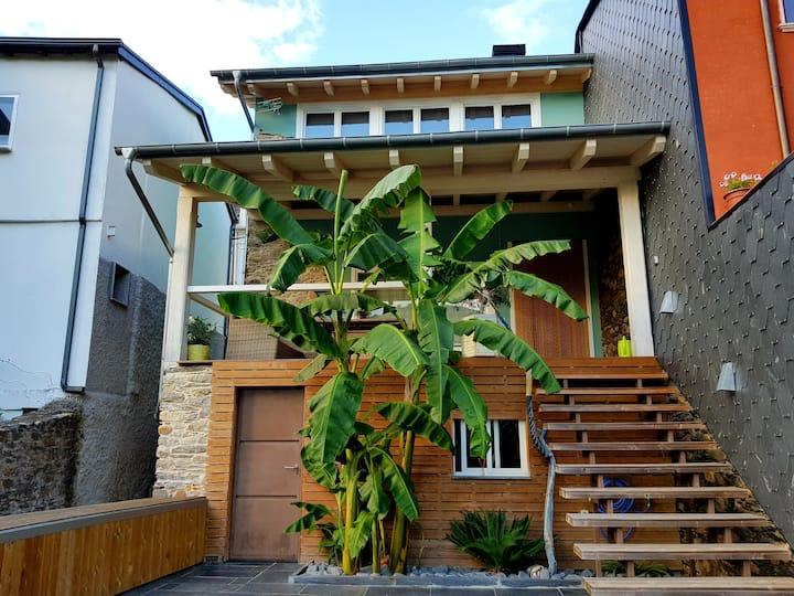 Casa del Río. Casa moderna con vistas al río Sil.