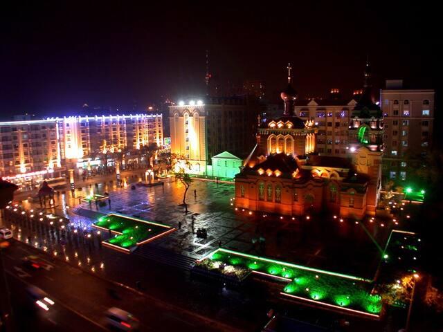 市中心,革新教堂,安静宜居,三室多人居住 - 哈尔滨 - Apartment