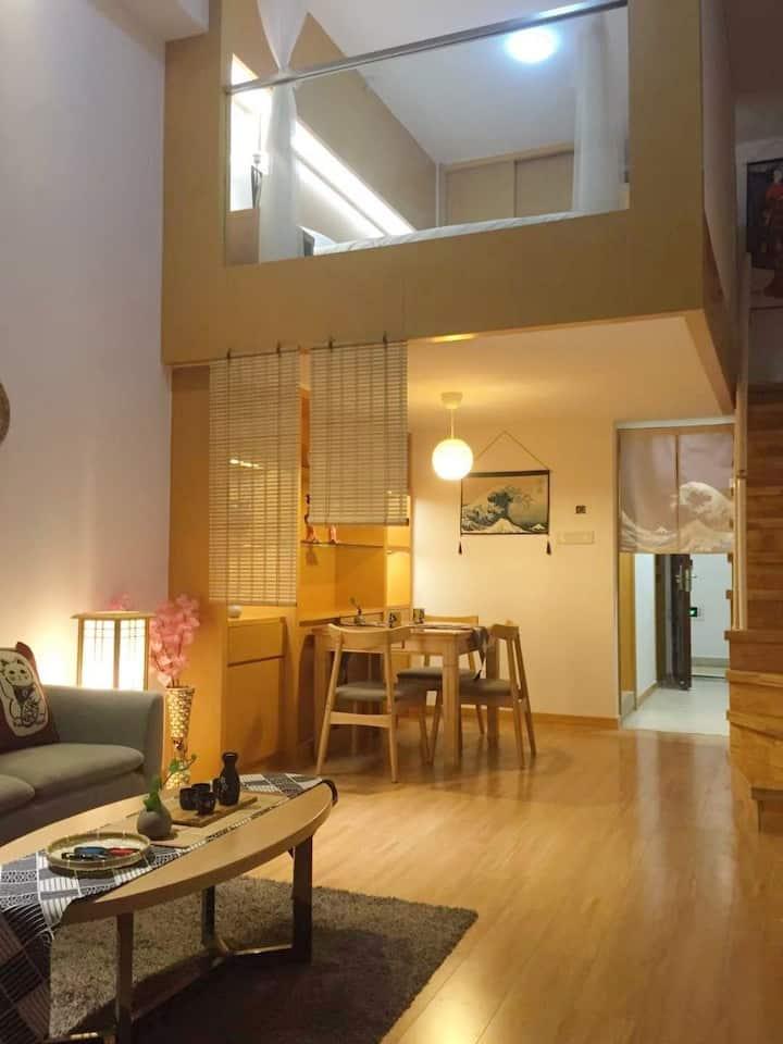 南通大学中南城日式和风复式巨幕家庭影院房