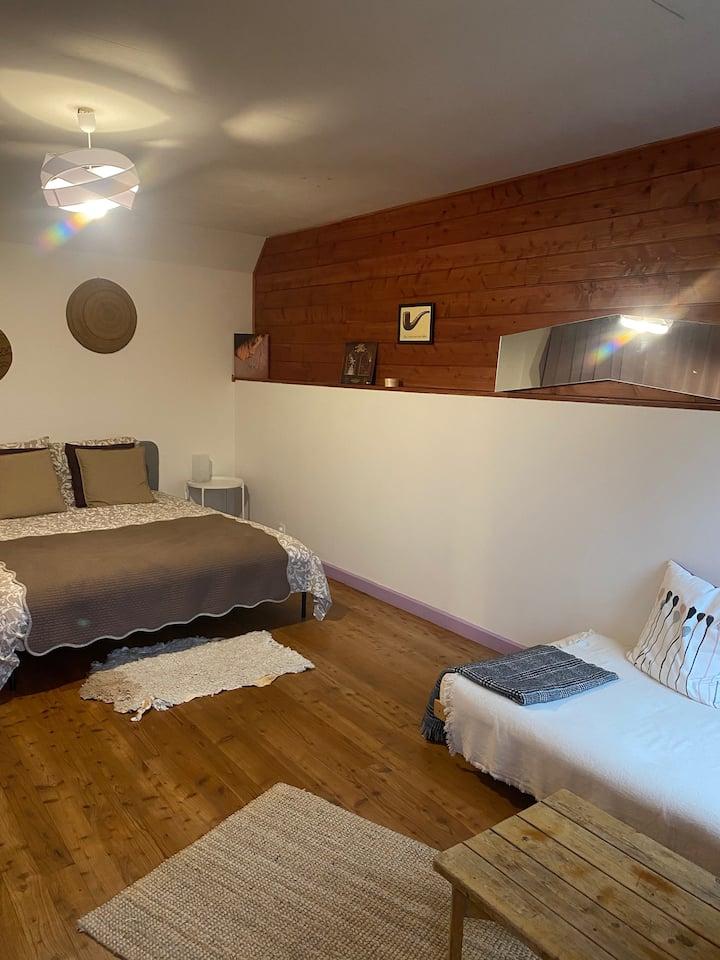 Hébergement spacieux pour un séjour au calme