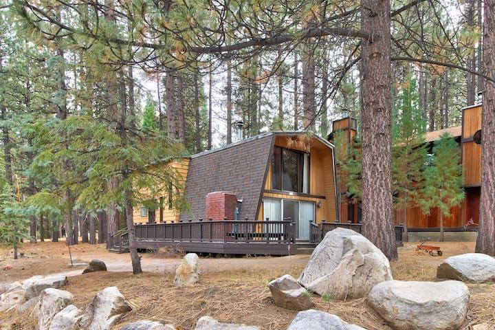 Rustic, dog-friendly cabin w/deck & grill, walk to Snow Summit