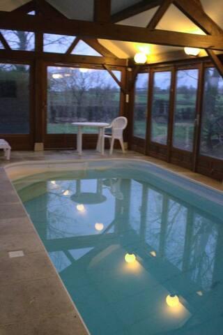 Gîte 14 personnes avec piscine chauffée