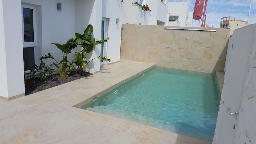 Pool Measure: 3*7 meters. Depth from approximately 20cm to 1.80
