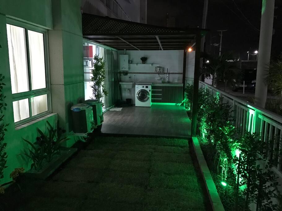 Jardim e suas iluminações