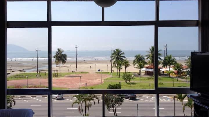 Frente à praia - Itararé 2dorm