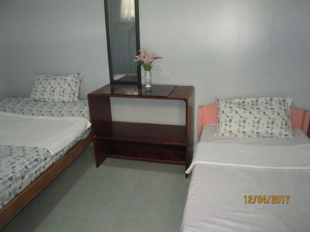 Aircon  Room with Toilet and Bath