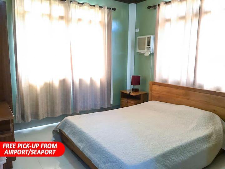 NICE PRIVATE ROOM with POOL near ALONA BEACH (RM5)