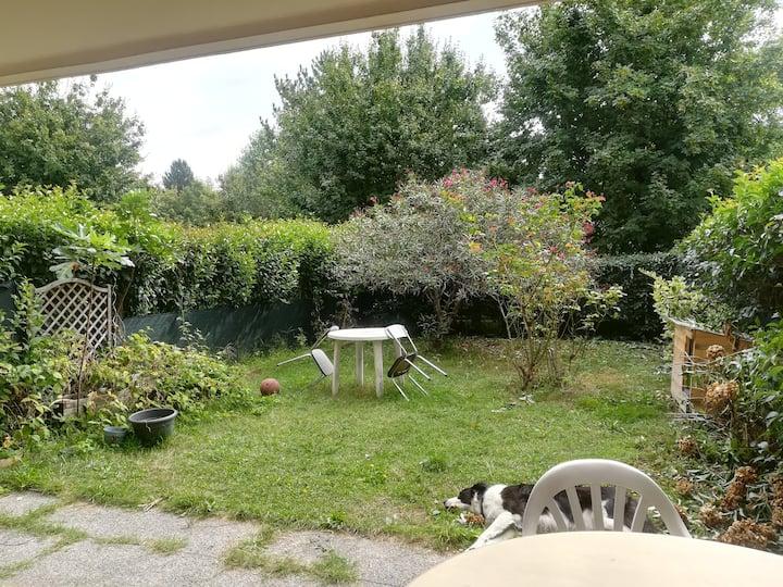 T2 en rez de jardin proche Grenoble