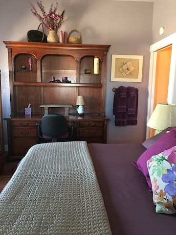 Master Bedroom has a separate entry, internet, desk, TV and privacy.
