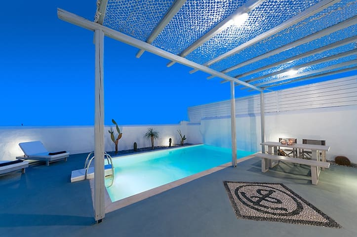 White Village-Three Bedroom Villa private pool - Lachania - Huvila