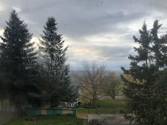 Downtown Lac La Biche suite with a view