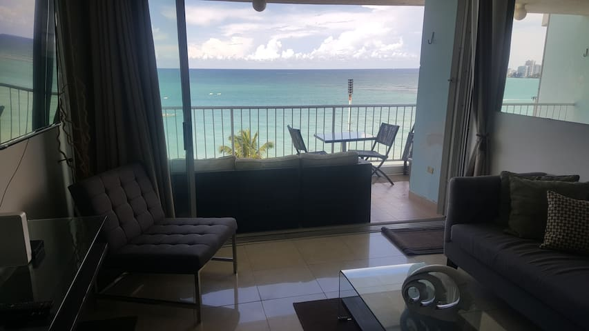 Stunning Ocean Front Views! Isla Verde Beach! Around the Hotels.. Big Balcony!! Skidding glass doors open full!!  Milly 787460179