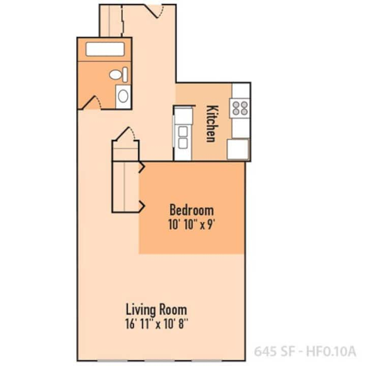 1BR Loft building in downtown Indianapolis