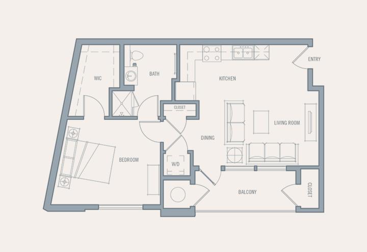 Brilliant apartment home | 1 BR in Denver