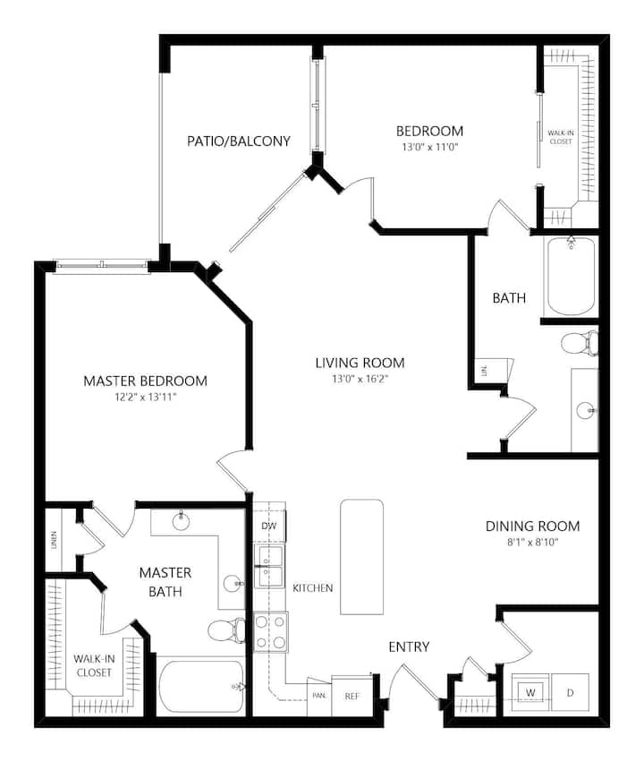 Homey home | 2BR in Austin