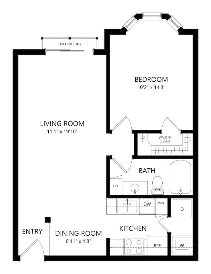 Homey home   1BR in Austin