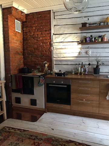 The unique and cozy apartment in wooden Raksila