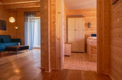 Öko- Appartement Blau,wohngesund Barrierefrei,Pool