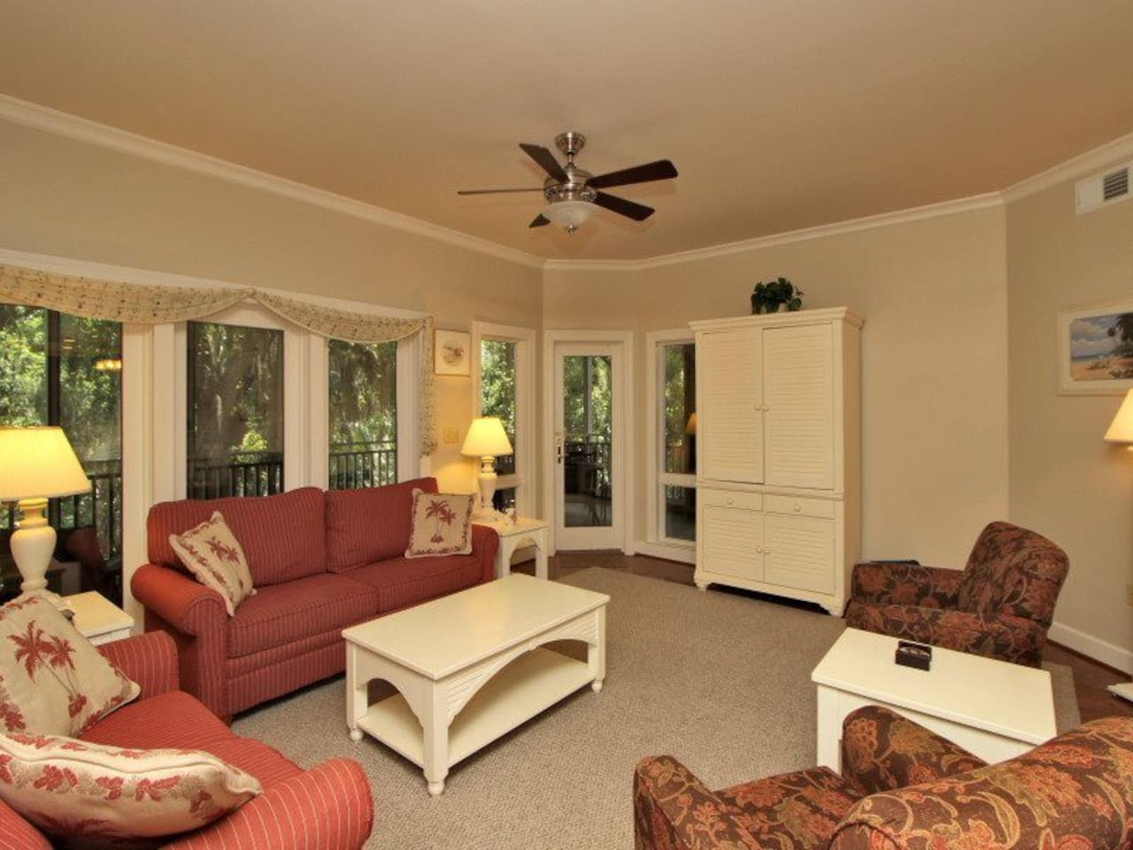 Living Room with All New Furniture at 8123 Wendover Dunes
