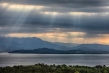 The weather changes fast in western Norway - and sometimes the sun pushes through the clouds to create the most amazing views.
