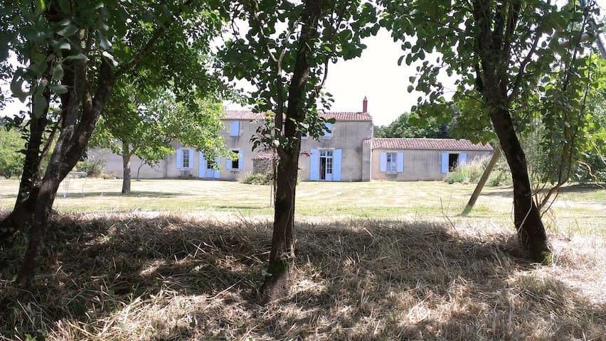 Vaste maison en cours de rénovation. 20 personnes - Saint-Cyr-en-Talmondais - Betjent leilighet