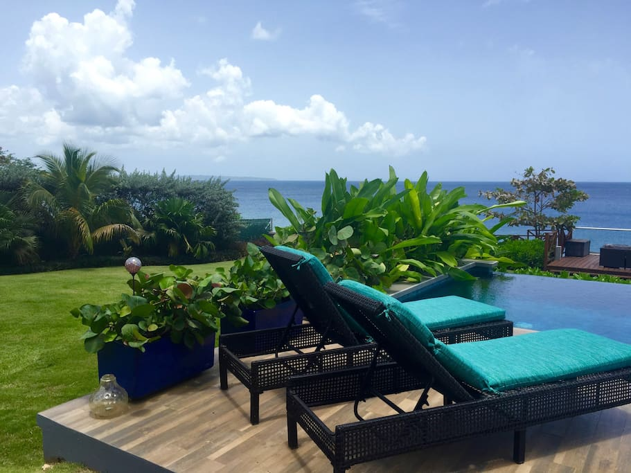 Beautiful gardens and views in your half an acre private resort