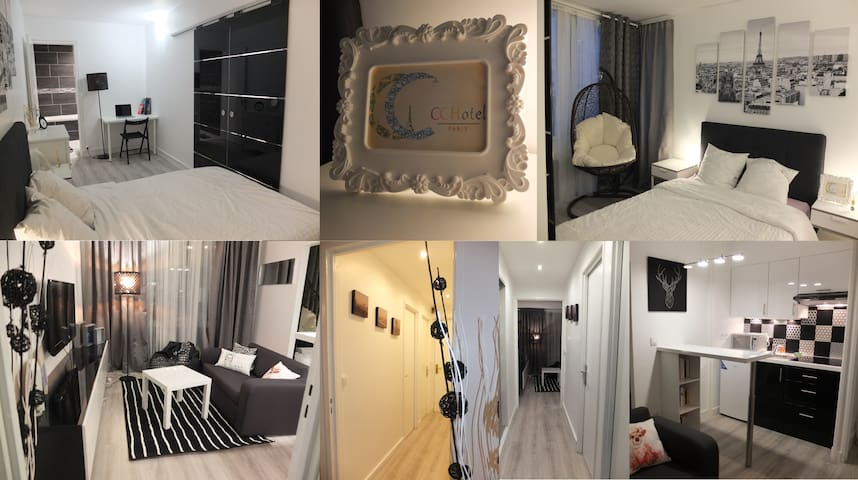 CCHotel@Paris, 40m2 apartment with balcony - Parijs - Appartement
