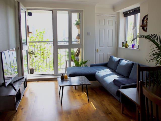Balcony / TV / sofa / dining table