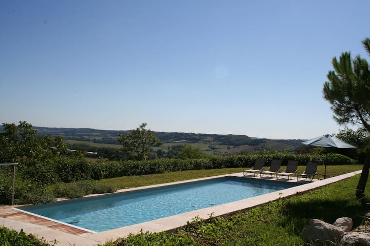Le Clapier - Luxury house with huge heated pool - Verdun-sur-Garonne - Villa