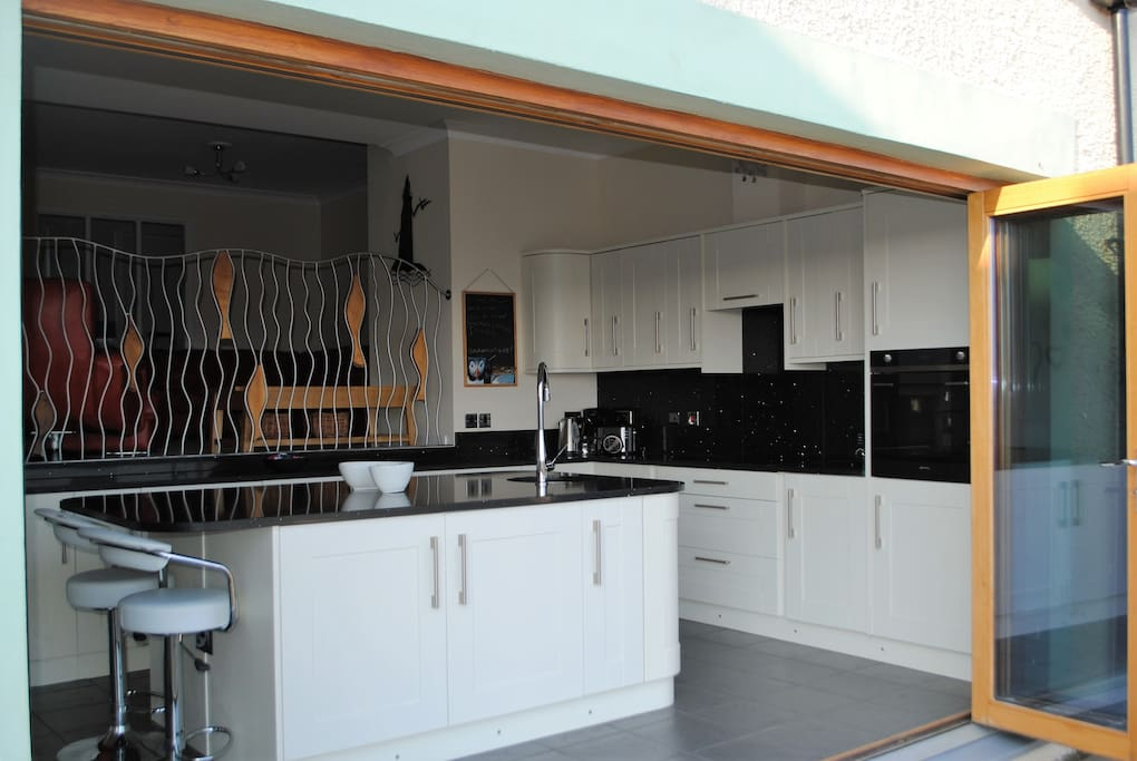 Stunning kitchen with integrated appliances