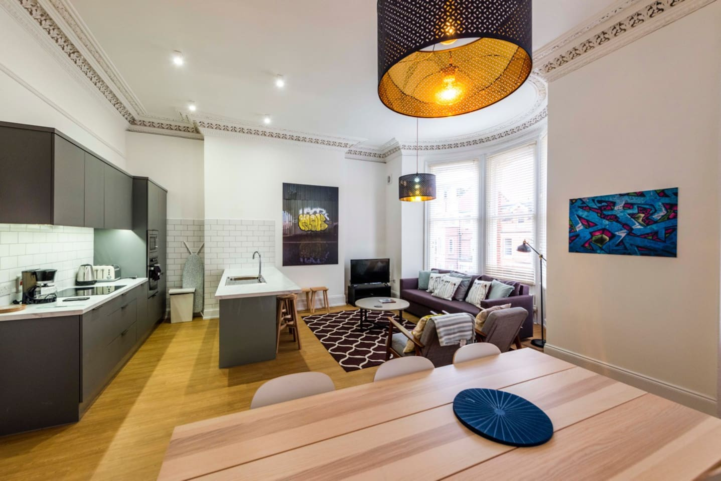 Large Open Plan Living Room and Dining Area Apartment 2