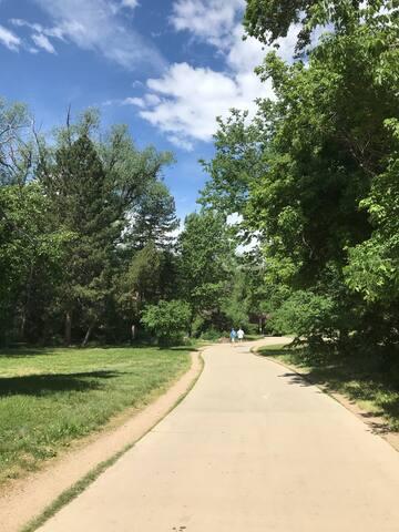 hiking and biking trails minutes away