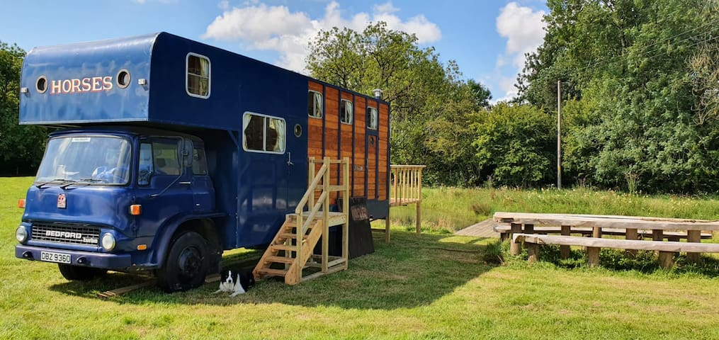 Lovingly converted vintage horse box
