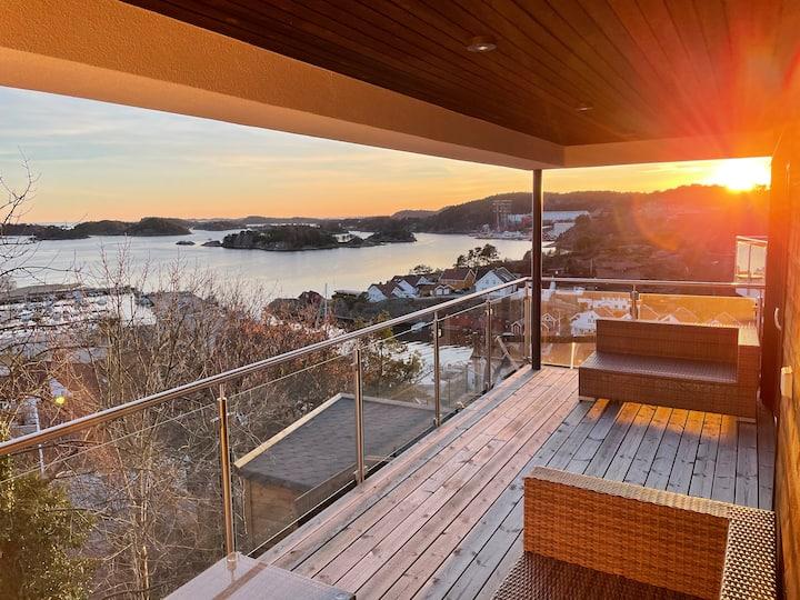 Høllen - Leilighet med panorama utsikt og 2 sov.