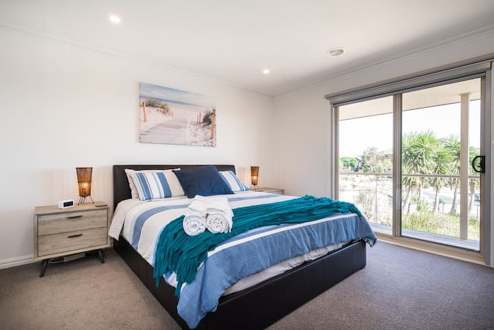 Upstairs master bedroom with ensuite