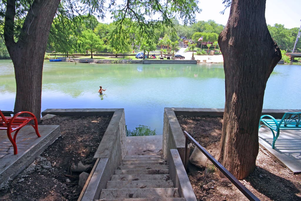 Convenient Guadalupe River Access from the Backyard - Book with SkyRun Vacation Rentals today!