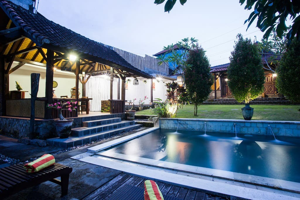 The stylish private villa in Bali