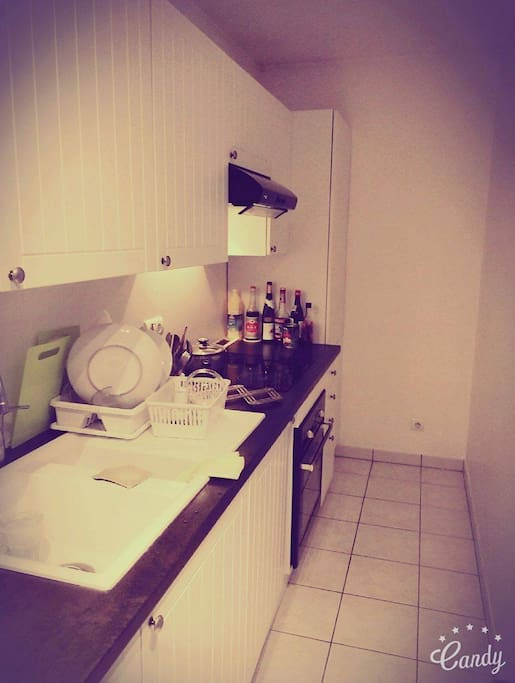 Well-equiped kitchen.
