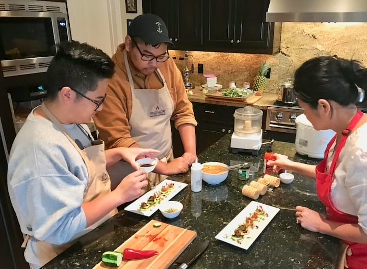 Plating hors d'oeuvres