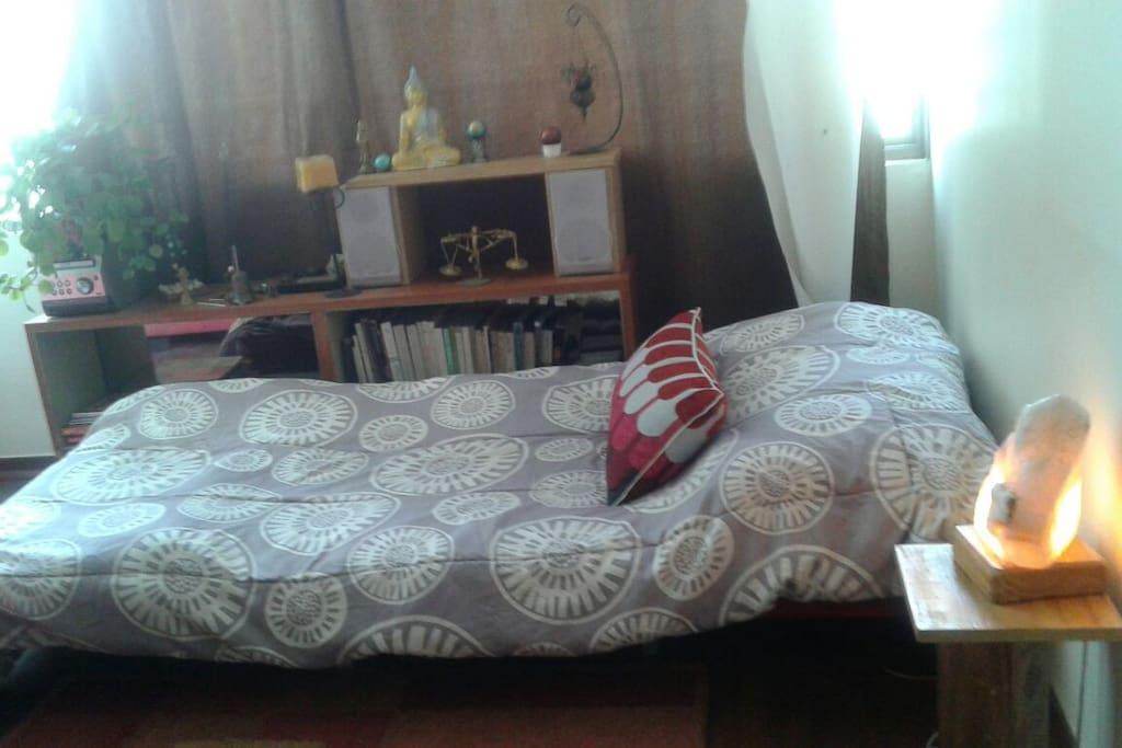 Cama amoblada en sillón cama de living comedor