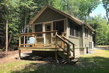 Custom-built brookside cabin
