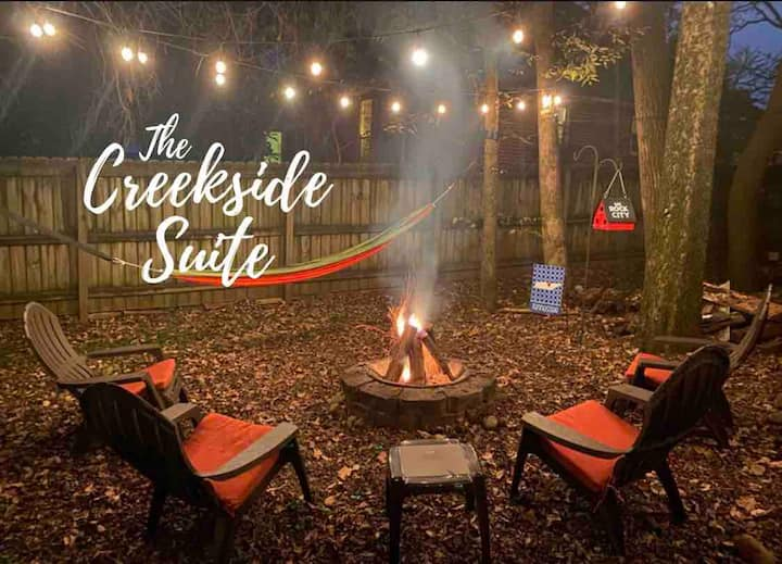 The Creekside Suite w/Private Entry+Outdoor Living