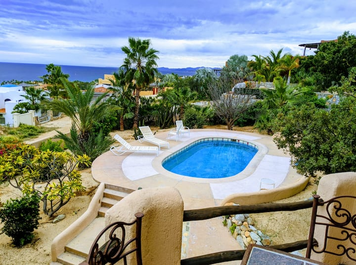 Home w/ private pool!  Ocean Views, Walk to Beach!