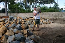 Me building the sea wall