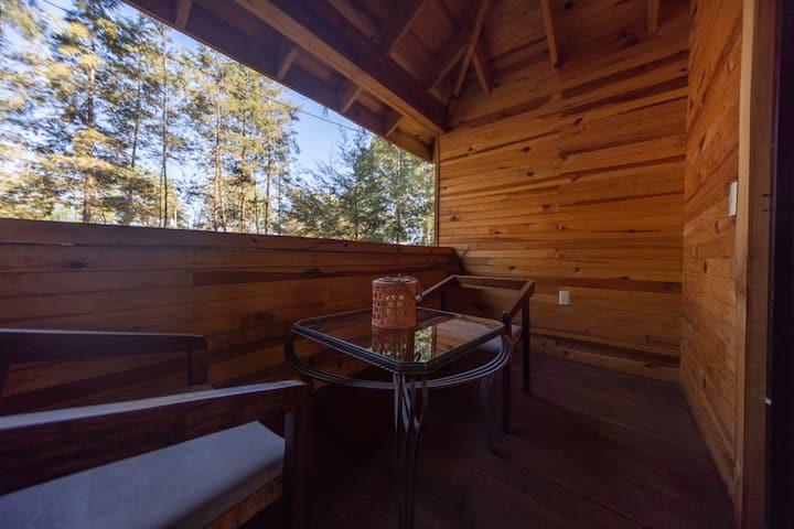 Hermosa y cómoda cabaña c/Jacuzzi ideal parejas 32
